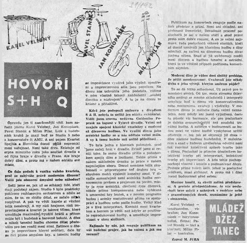 Karel Velebný - hovoří S+H Q 1